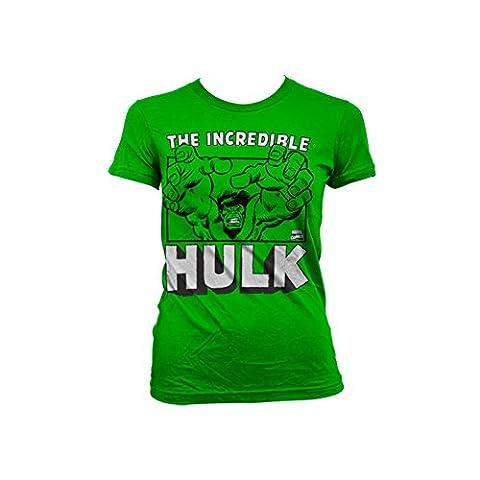 Officiellement Marchandises Sous Licence The Incredible Hulk Femme T-Shirt (Vert), Medium
