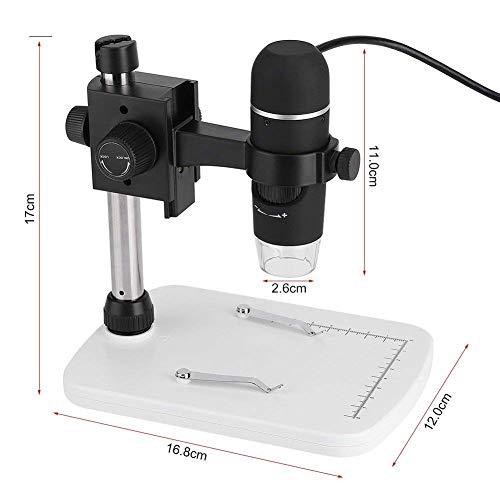 AYH Microscopio digitale Usb 2.0 Professional Hd 8 Led con microscopio a luce elettronica Misura con supporto per Windows Xp/Vista / Win7 / Win8 / Win10 / Mac 10.6 o superiore