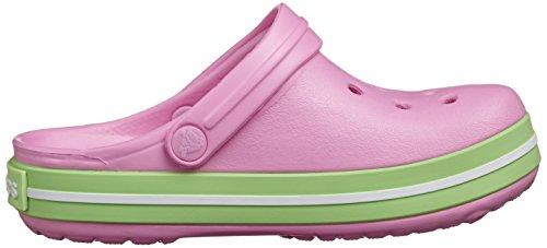 Crocs Band K Kids, Sabots Mixte Enfant Rose (Carnation/Green Glow)