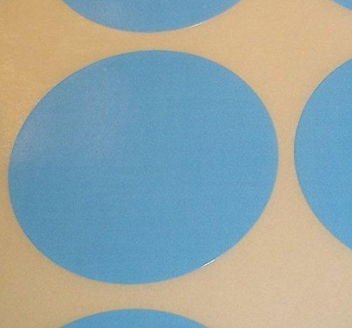 Pack Of 100 Grande 63mm Redondo / Circular Código De Color Lunares En blanco Precio Pegatinas Etiquetas - Elija Su Color/s (Azul Claro)