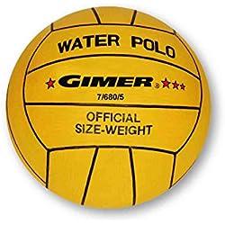 GIMER Waterpolo, balón para Hombre, Amarillo, Número 5