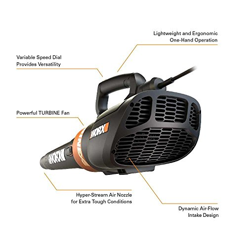 WORX WG517E 2300W Air Turbine Corded Leaf Blower