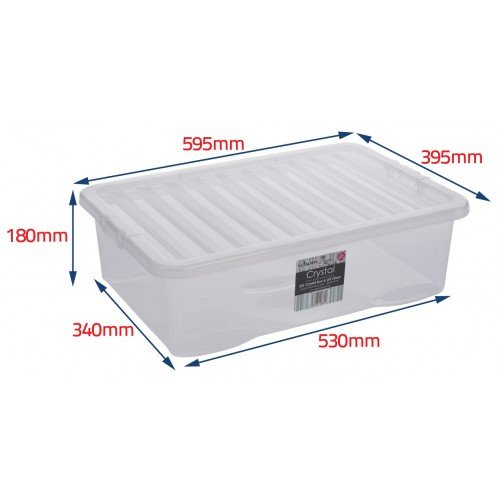 -[ Wham Plastic Storage Boxes - Pack Of 5 (45 Litre)  ]-