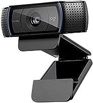 كاميرا ويب لوجيتيك C920 احترافية عالية الوضوح بدقة 1080 بكسل وشاشة عريضة بخاصية تسجيل مكالمات الفيديو, اسود On