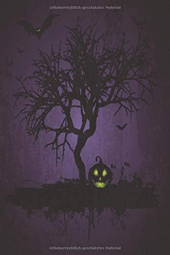 Horror Notizbuch Baum und Kürbis lila Edition: Schauriges Notizbuch für alle Zwecke