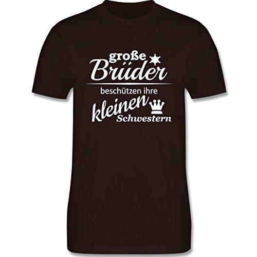 Sprüche - Große Brüder - Herren Premium T-Shirt Braun