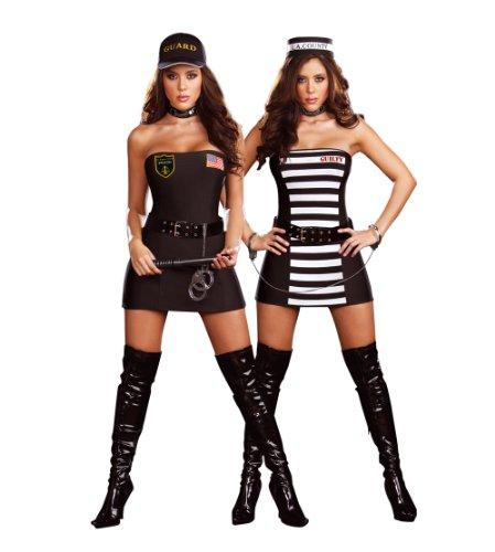 Cesar - Pack de 2 disfraces de policía y ladrona para mujer (adulto), talla L