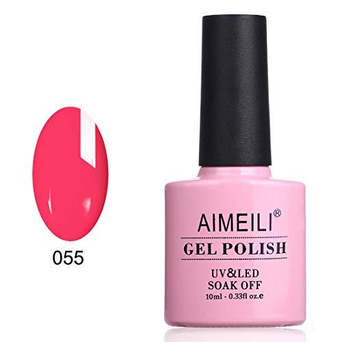 AIMEILI UV LED Gellack ablösbarer Gel Nagellack Gel Nail Polish - Neon Shocking Pink (055) ()