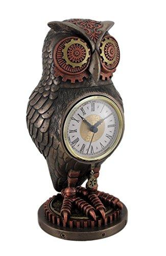 Bronzo/rame finitura Steampunk Owl Mantel (Bronzo Rame Accenti)
