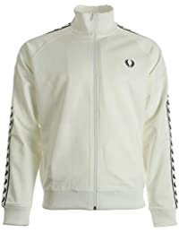 Fred Perry Taped Track Jacket Snow White, Veste sport