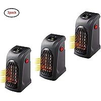 Ultra Time Empty Mini Calentador Eléctrico LED Enchufable, Calentador De Aire Eléctrico Portátil De 500