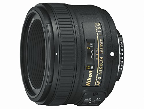 Nikon Obiettivo Nikkor AF-S 50 mm f/1.8G, Nero [Nital Card: 4 Anni di Garanzia]
