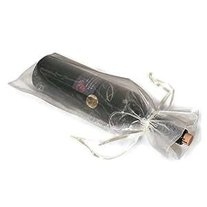 Pixnor 10 x sacs de cadeaux Organza pure bouteille de vin à présent partie de mariages
