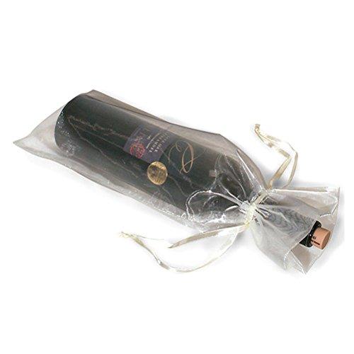 Pixnor 10 x pura Organza bottiglia di vino sacchetti regalo per la festa di matrimoni presenti