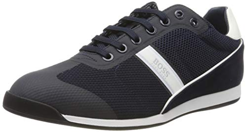 BOSS Glaze_Lowp_mewt, Herren Sneaker, Blau (Navy 401), 41 EU (7 UK)