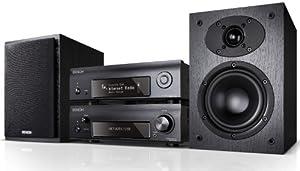 Denon D-F109N Stereo Kompaktanlage (2x 65 Watt, Internetradio, DLNA, AirPlay, UKW, App Steuerung) schwarz/schwarz