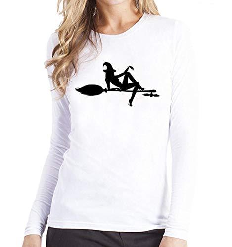 SHOBDW Damen Halloween Kürbis Schwarze Katze Drucken Sweatshirt Pullover Tops Bluse Shirt Frauen Plus Größe Trendigen Activewear Lauftraining - Plus Größe Sexy Werwolf Kostüm