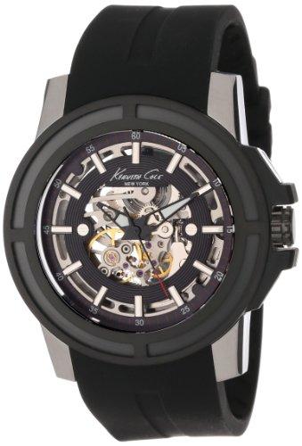 Kenneth Cole Herren-Armbanduhr XL Automatic Analog Automatik Silikon KC1898