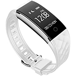 FEITONG Bluetooth 4.0 LED wasserdichte intelligente Armbanduhr Armband Sport Uhren Weiß