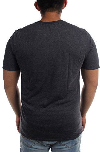 Hurley - - Herren One & Drücken Nur Thru T-Shirt Heather Black
