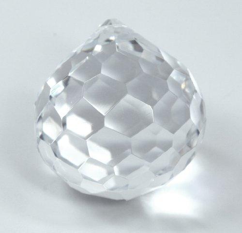boule en facettes diamètre 50mm - cristal taillé - boule de fin pour lustres où décoration
