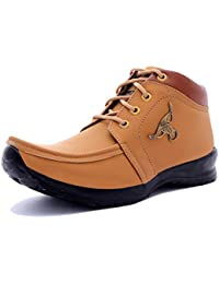 Black Macy Men's Tan Synthetic Leather Boot