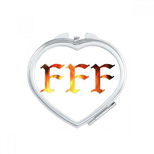 DIYthinker FFF Fury Einzelner Herz Compact Make-up Taschenspiegel Tragbare Nette kleine Hand Spiegel Geschenk Mehrfarbig (Net Fury)