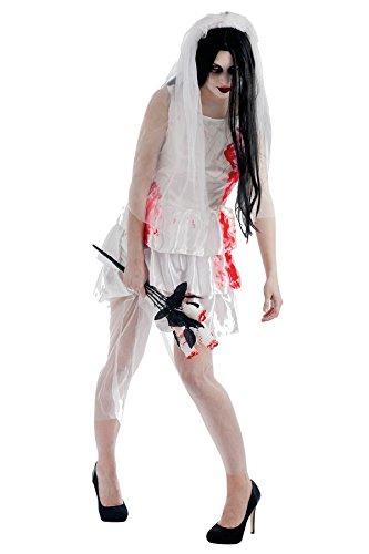 Unbekannt P 'tit Clown–80050–Kostüm Erwachsene Braut Zombie–Einheitsgröße (Mariee Zombie Kostüm)