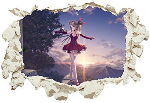 Preisvergleich Produktbild Unified Distribution Anime & Manga - Ballance Ballerina - Wandtattoo mit 3D Effekt,  Aufkleber für Wände und Türen Größe: 92x61 cm,  Stil: Durchbruch