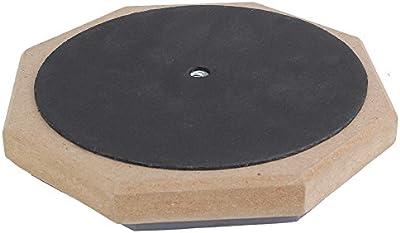 BQLZR Tambor 6pulgadas de doble cara de espuma suave de goma, acolchado Gris y negro tacto suave para practicar el tambor