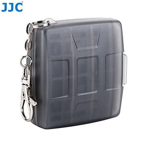 JJC MC-8D Multi Memory Card Case Speicherkarten Schutzbox für 1 Stück CF Cards - 2 Stück MicroSD und 2 Stück SD Karten - Stoßfest Box Safe Tasche Etui Aufbewahrungsbox Hülle mit Schlüsselanhänger (8d-box)
