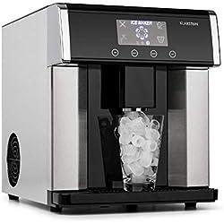 Klarstein Ice Age • Machine à glaçons • 15 kg de glace/jour • Ecran LCD intuitif • 3 tailles de glaçons • Réservoir d'eau de 3L • Remplissage manuel ou automatique • Noir