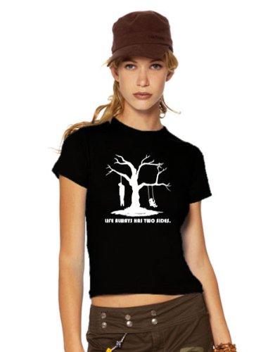 Life Has Always Two Sides maglietta, Ladies schwarz, XXL