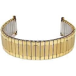 Eulit Flexband Zugband watch strap stainless Steel IP amarillogold 16mm-20mm 71-5109