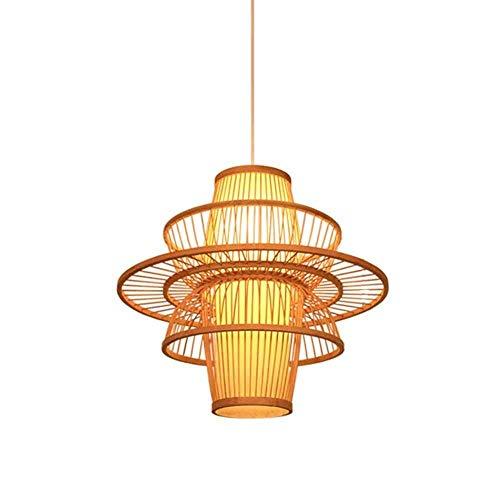 Classic Wicker (JL-Q Chinese Classic Craft-Stil Wicker Rattan Bamboo Deckenlampe Restaurant Home Screen Chandelier, A [Energieeffizienzklasse A],D)