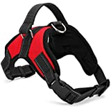 PSK Service Textile Harness for Dogs (Red, Large)