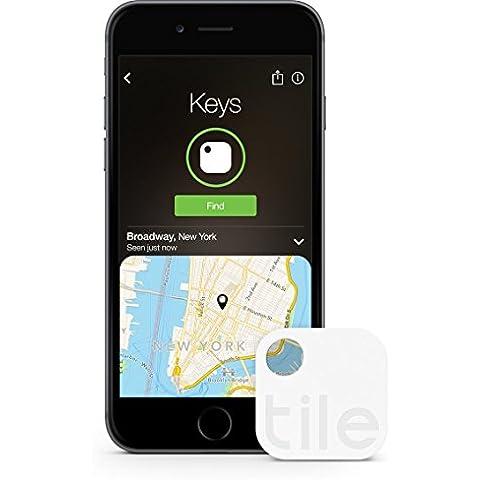 Tile (Gen 2) - Localizador GPS para móvil, llaves (4 unidades), color blanco (importado)