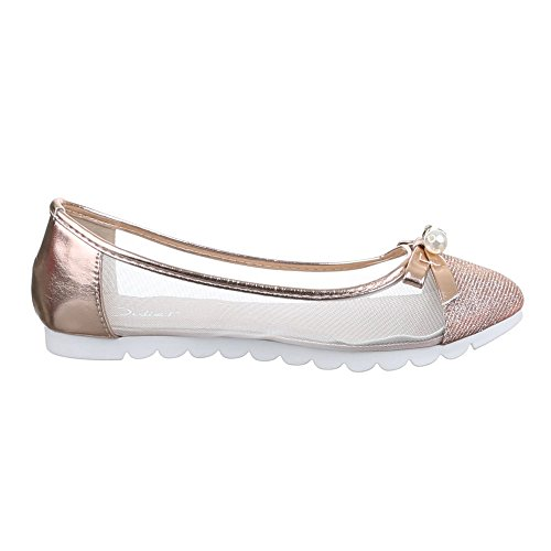 Ital-Design , Ballerines femme Marron - Bronze