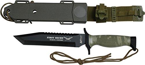 MTech USA Outdoormesser MT-676 Serie, Messer Kombi Griff Camo, scharfes Jagdmesser, Taschenmesser...