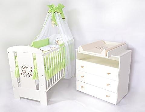 Babyzimmer sparset incl. Babybett , Wickelkommode , Ausstattung - Komplettset