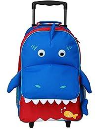 Yodo - Trolley per bambini 3-opzioni, utilizzabile come piccola valigia, zaino e trolley, ampia tasca anteriore, età 3+ anni, Multicolore