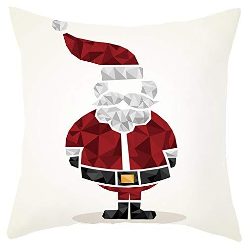 FELZ Funda de almohada de Navidad Fundas de Almohada Decoración con Cremallera Invisible Throw Pillow Case Funda de Almohada para Cojín 45x45 cm para Sala de Estar, sofá, Dormitorio o Coche