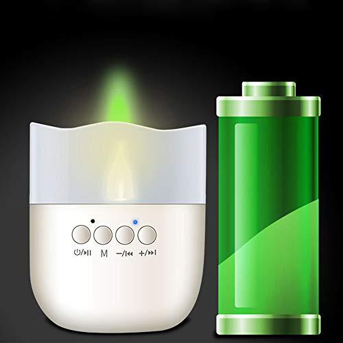 Dadeqish mini altoparlante senza fili bluetooth bianco caldo usb portatile led night candle light dc5v luce interna (color : pink)
