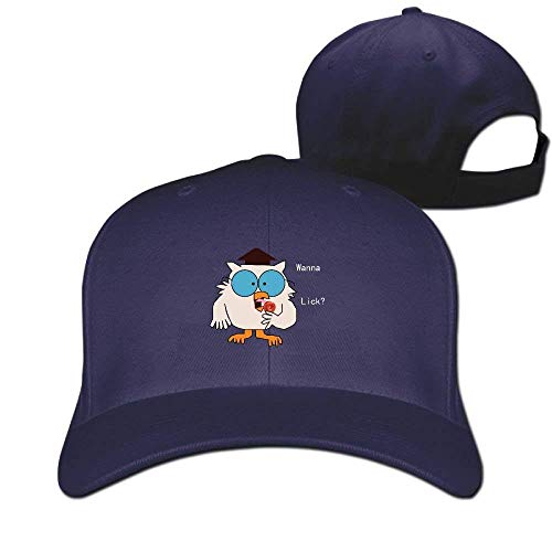 Tootsie Roll Pop Wanna Lick Solid Travel Cap Baseball Cap Sport Hats for Men and Womens fitted hats (Rot Tootsie Rolls)