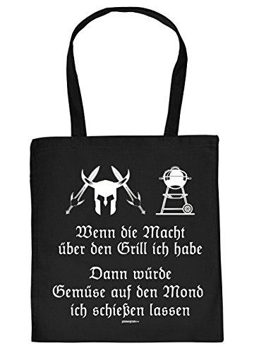 Griller Tasche Grillzubehör Tragetasche Grill : Wenn die Mach über den Grill ich habe -- Sprüche Baumwolltasche Grillen --Farbe: schwarz (Grillen Habe)