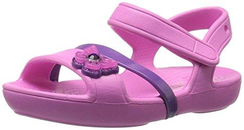 Crocs lina, sandali a punta aperta bambina, rosa (party pink), 23 eu