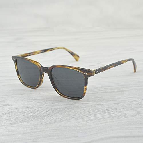 LKVNHP Hohe Qualität Klare Sonnenbrille Männer Markendesigner Frauen/Männer Vintage Brillen Fahren SonnenbrilleVs Grau