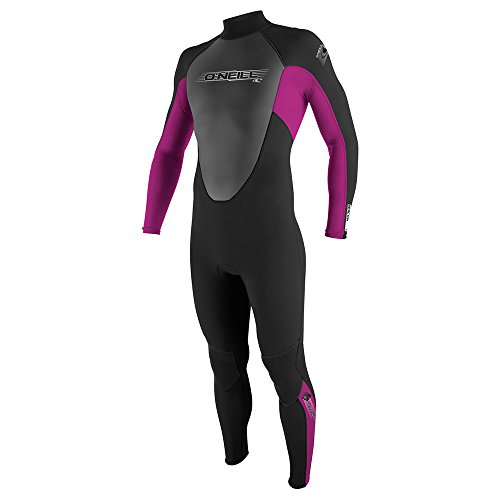 2017 O'Neill Youth Reactor 3/2mm Back Zip Flatlock Wetsuit BLACK / FOX PINK 3802 Age / Size - 12 Years