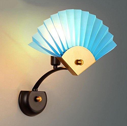 DENG OOFAY Light® Appliques Edison LED Moderne E27 Moderne Intérieur Abat-Jour Décoration Chevet Fixation Éclairage, A
