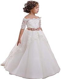 KekeHouse Vestito da ragazza vestito bambina elegante con merletto  Appliques vestito per matrimonio vestito da damigellina ca24870843c